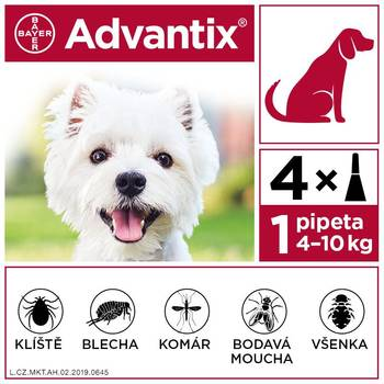 Advantix pro psy 4-10 kg spot-on 4x1 ml