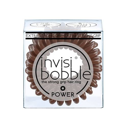 Invisibobble POWER Pretzel Brown gumička do vlasů 3 ks