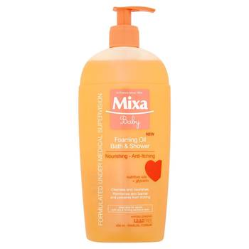 Mixa Baby Pěnivý olej do sprchy i do koupele 400ml