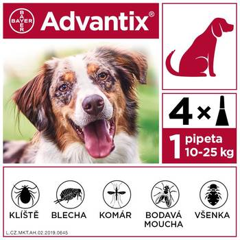 Advantix pro psy 10-25 kg spot-on 4x2,5 ml